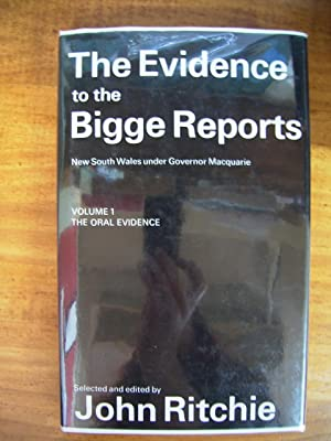 THE EVIDENCE TO THE BIGGE REPORTS: NSW: ED: RITCHE, JOHN