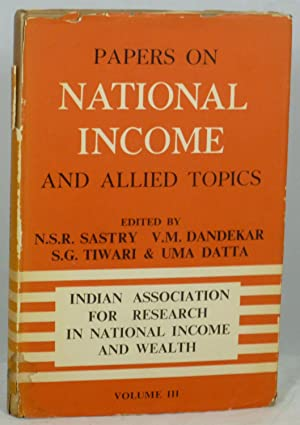 Papers On National Income and Allied Topics: Sastry, N.S.R.; Dandekar,