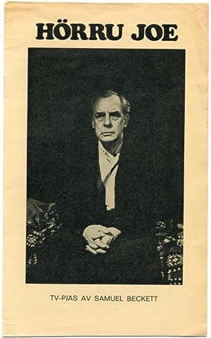 Hörru Joe. TV-pjäs av Samuel Beckett.: Beckett, Samuel