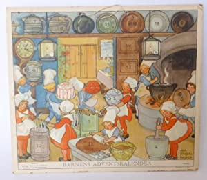 Barnens adventskalender (för 1942). Utgives av Sveriges Flickors Scoutförbund.: ...