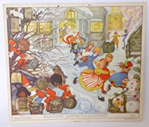 Barnens adventskalender (för 1945). Utgives av Sveriges Flickors Scoutförbund.: ...