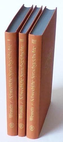Schwedische Sprachgeschichte I-III.: Wessén, Elias