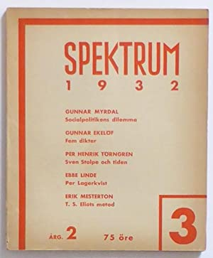 Spektrum. Årg. 2. Nr 3.: Spektrum] Boye, Karin