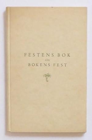 Festens bok för bokens fest den första: Sveriges författarförening /