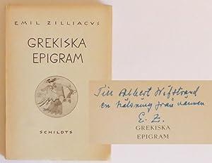 Grekiska epigram.: Zilliacus, Emil (Övers.)