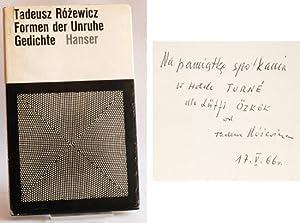 Formen der Unruhe. Gedichte. Herausgegeben und übertragen von Karl Dedecius.: Rózewicz, ...