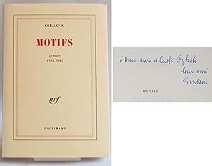 Motifs. Poèmes 1981-1984.: Guillevic, Eugène