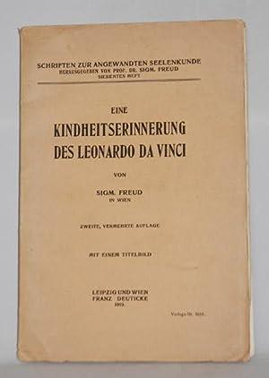 Eine Kindheitserinnerung des Leonardo da Vinci. Zweite, vermehrte Auflage.: Freud, Sigmund