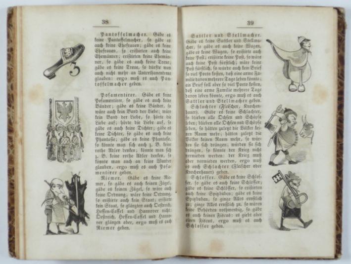 Komischer Volkskalender für 1848. 3. Jahrg.: Glassbrenner.- Brennglas, Ad.