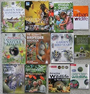 WILDLIFE IN THE GARDEN - an excellent collection of twelve titles : Birdfeeder Handbook, Back Gar...