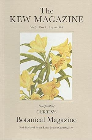 The Kew Magazine Volume 5 Part 3, (incorporating Curtis's Botanical Magazine) - includes 'Some At...