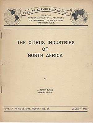 The Citrus Industries of North Africa [Alan Davidson's copy]