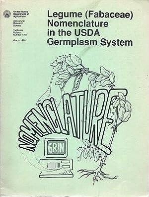 Legume (Fabaceae) Nomenclature in the USDA Germplasm: Wiersema, John H.,