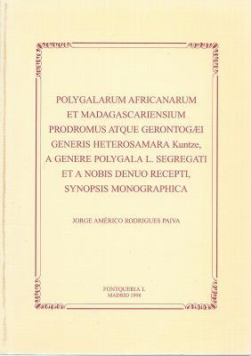 Polygalarum Africanarum et Madagascariensium Prodromus atque gerontogaei: Paiva, Jorge Americo