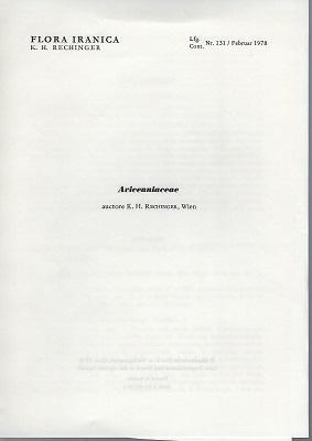 Flora Iranica 131 - Avicenniaceae (Flora des: Rechinger, K.H.