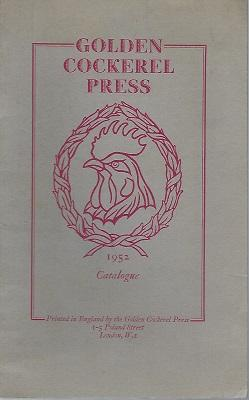 Golden Cockerel Press - 1952 Catalogue