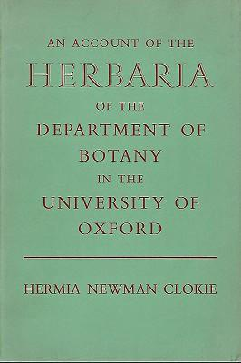 An Account of the Herbaria of the Departmeny of Botany in the University of Oxford
