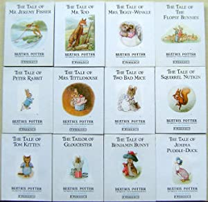 12 Volume set - The Tale of Tom Kitten, The Tailor of Gloucester. Benjamin Bunny. Jemima Puddle-D...