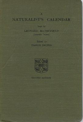 A Naturalist's Calendar, kept at Swaffham Bulbeck, Cambridgeshire by Leonard Blomefield ( formerl...