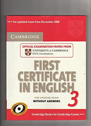Cambridge first certificate in English for updated: Cambridge ESOL