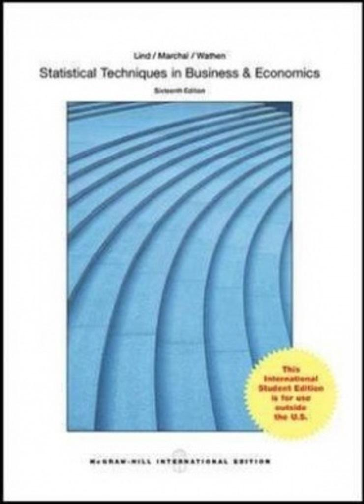 Statistical Techniques in Business and Economics with Connect Access Card ( 16th International ...