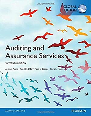 Auditing and Assurance Services (16th International Edition): Alvin A. Arens;