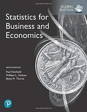 Statistics for Business and Economics (8th International: Newbold, Paul; Carlson,