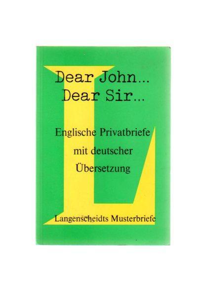 Dear John Dear Sir Englische Privatbriefe Mit Deutscher