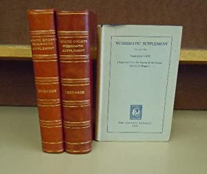Asiatic Society of Bengal Numismatic Supplement, I through XVI; XVII through XXXVIII; and XXXIX ...