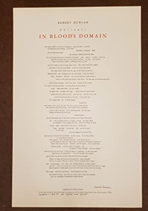 Passages in Blood's Domain (Broadside)