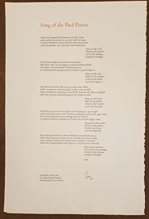 Song of the Pied Parrot (Broadside)