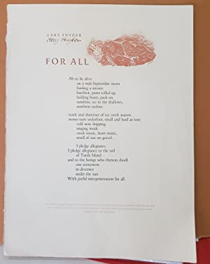 Gary Snyder: For all (Broadside)