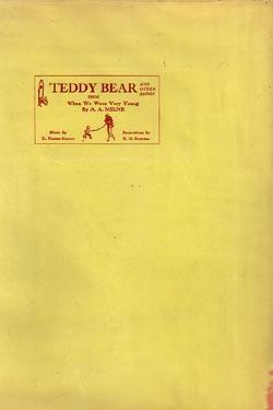 Teddy Bear and Other Songs from When We Were Very Young by A. A. Milne: Milne, A. A. and H. ...