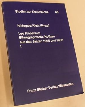 Ethnographische Notizen aus den Jahren 1905 und 1906: I: Volker am Kwilu und am unteren Kasai.: ...