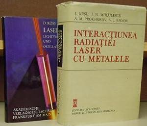 Interactiunea Radiatiei Laser Cu Metalele [Interaction of: Ursu, I, I.