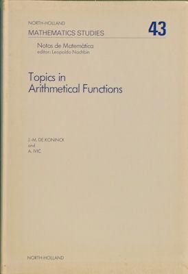 Topics in Arithmetical Functions: Asymptotic Formulae for Sums of Reciprocals of Arithmetical ...