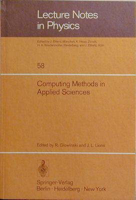 Computing Methods in Applied Sciences: Second International Symposium, December 15-19, 1975: ...