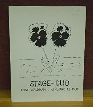 Stage-Duo: Anne Waldman, Kenward Elmslie, cover art by Joe Brainard