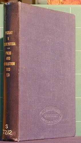pechat' I Revolyutzia, Kinga Vtoraya, Fevral - Mart 1923; Kniga 5 - avgust- Sepetmber: N/a