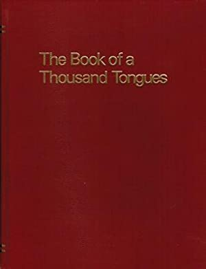 The Book of a Thousand Tongues: Edited By Eugene A. Nida; Preface By Donald Ebor