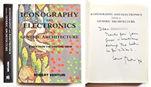 Robert Venturi Iconography and electronics upon a generic architecture The MIT Press 1996Autografo