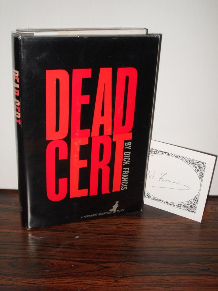 DEAD CERT FRANCIS, DICK Very Good Hardcover