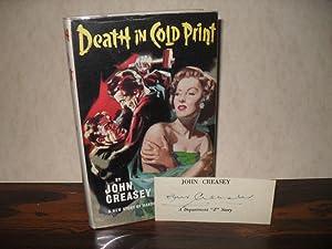 DEATH IN COLD PRINT: CREASEY, JOHN