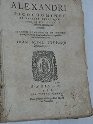 De Sphaera Libri Quatuor, ex italico in: PICCOLOMINI (Alessandro).