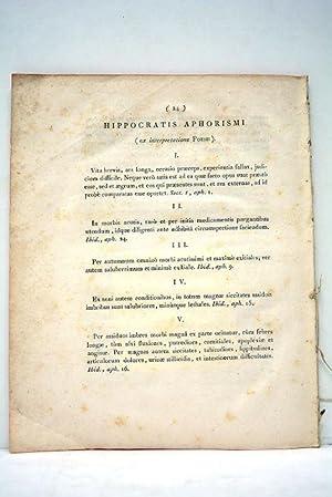 Commentaire sur quelques Aphorismes d'Hippocrate, relatifs à: DESCAMPS.