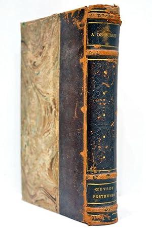 Oeuvres posthumes. Poésies diverses. Un souper chez: MUSSET (Alfred de).