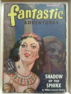 Shadow of The Sphinx, November 1946 Fantastic Adventures, Pulp Magazine Two Covers