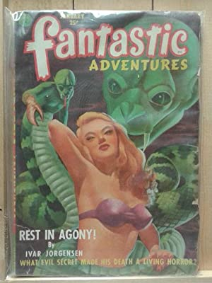 Rest In Agony, January 1952, Fantastic Adventures, Pulp Magazine