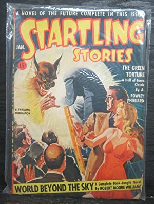 World Beyond The Sky, The Green Torture, January 1943, Startling Stories, Pulp Magazine