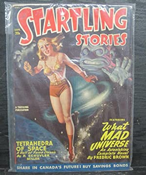 Tetrahedra of Space, What Mad Universe, September1948, Startling Stories, Pulp Magazine